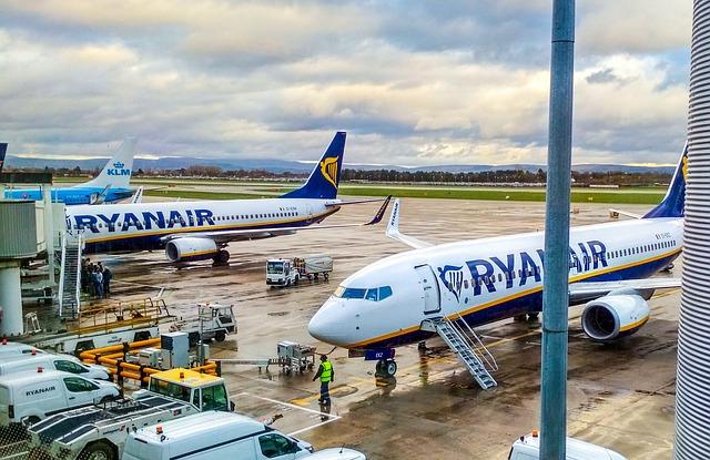 Boarding letu Ryanair
