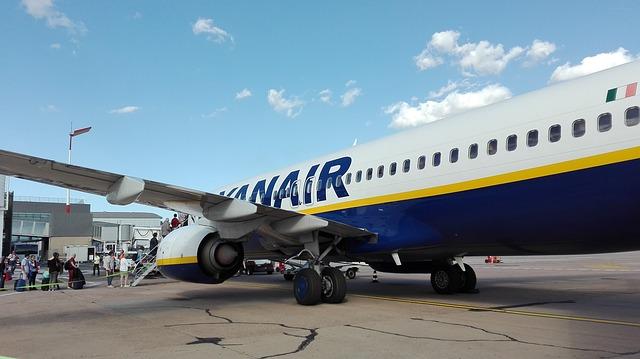 Nastupování do letu společnosti Ryanair