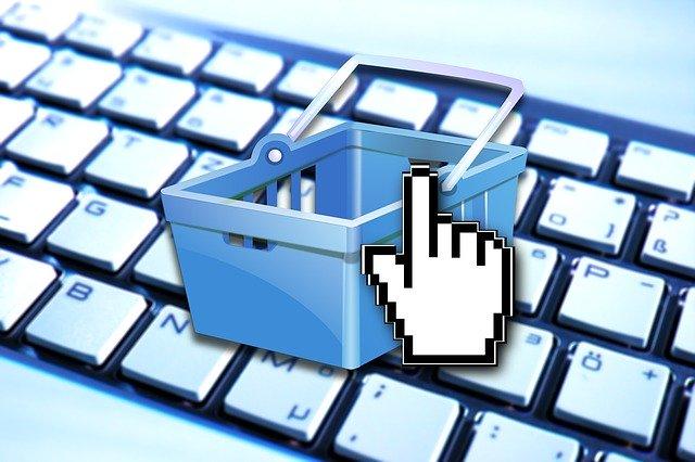 košík pro nákup v internetovém obchodě